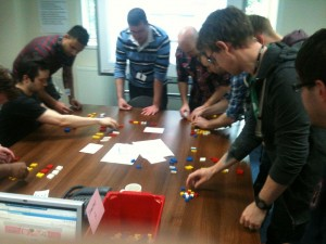 Lean Lego game in action - iteration 1