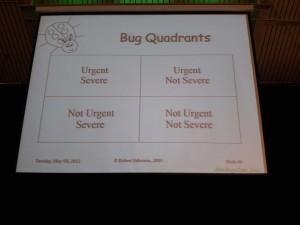Rob Sabourins Bug Triage Quadrants