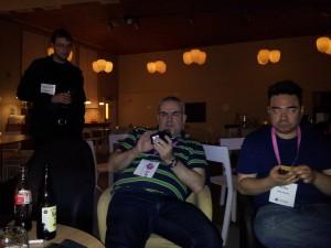 Huib Schoots & Tony Bruce with Laser Eyes