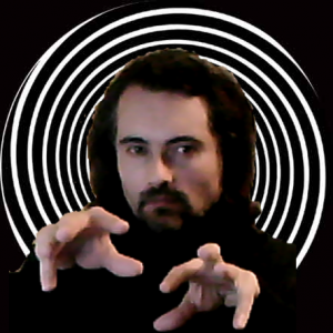 Alan Richardson in hypnotist pose
