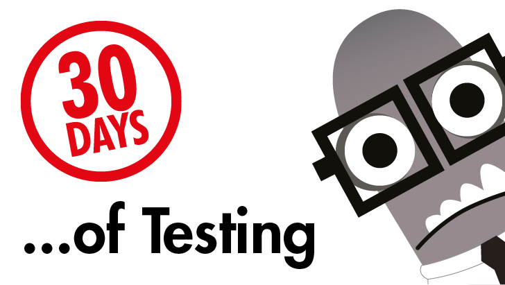 Ministry of Testing 30 days of testing image